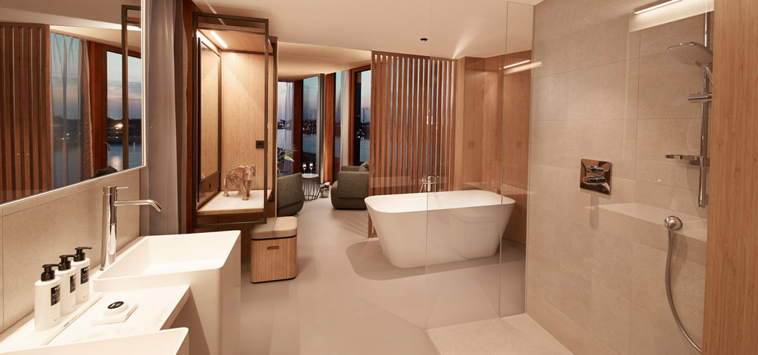 Fußboden Corques Liquid Lino – Hotel Jakarta