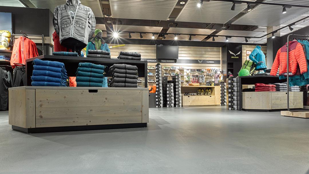 Durapure Fußboden im Einzelhandel