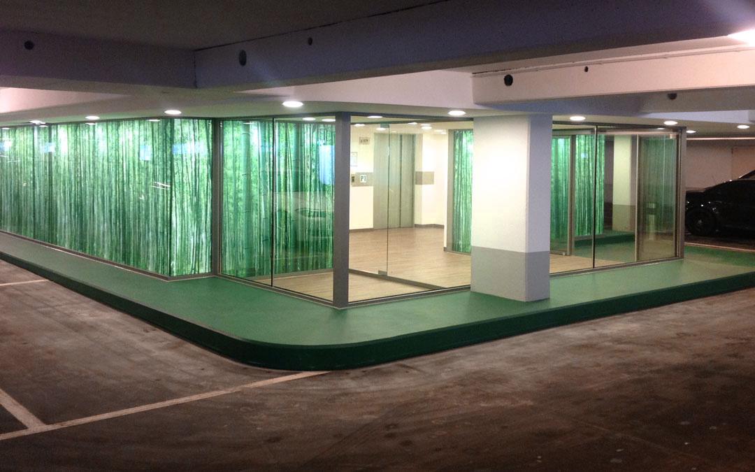 Durapure Fußboden in einer Tiefgarage